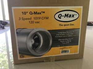 Indoor High CFM Q-Max in-line Can Fan (Quite and Efficient)