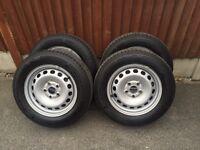 "VW caddy golf skoda Audi steel wheels and tyres 15"""
