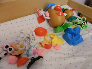 MR. POTATO HEAD PARTS + BABY TOY LOT