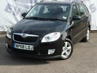 2008 SKODA FABIA 1.4 GREENLINE TDI DIESEL ESTATE 10 SERVICE STAMPS TIMING BELT A