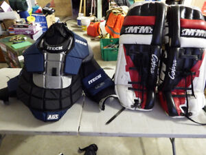 goalie and hockey equipment,,all $200