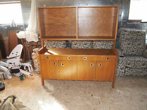 Teak Buffet and Hutch Teck Vintage