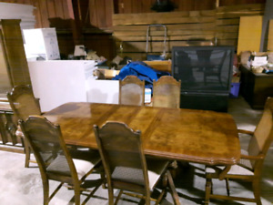 Dinning room table and chairs with China cabinet