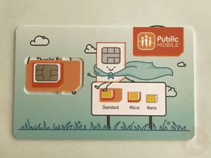 PUBLIC MOBILE SIM CARDS - IN STOCK TODAY