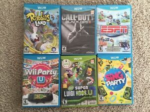 Wii U games - new condition