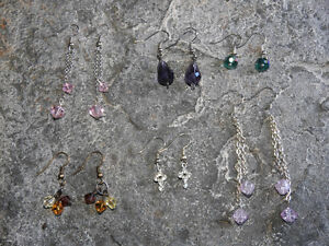6 pairs of HANDMADE earrings - $5 ea or ALL six for only $20!