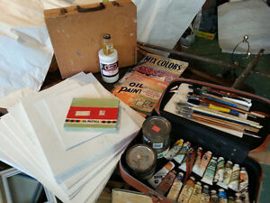 Large Lot Oil Painting Art Supplies