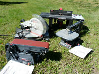 Mitre Saw, Scroll Saw , Router , Sander