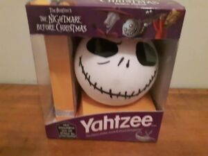 The Nightmare Before Christmas Yahtzee Game, Near Mint