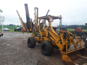 50 inch tree spade tractor with front end loader