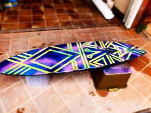 Custom handpainted shortboard