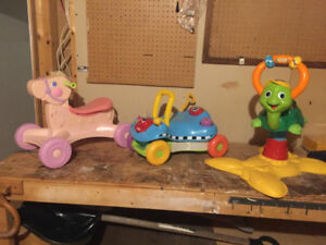 VTech Bouncing Colour Turtle, Ride on Horse&Colorful Ride on Car