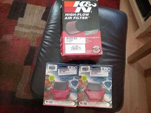 Pad de brake et filtreur K N pour ktm 690