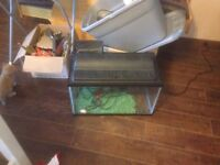 2 10 gallon fish tanks with accessories $25 each or both for 45