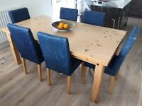 Modern solid pine dining table from IKEA - LOW PRICE FOR A QUICK SALE