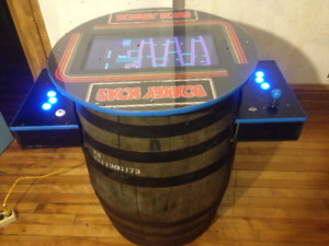 Donkey Kong Cocktail Arcade Machine Real Whiskey Barrel 60 GAMES