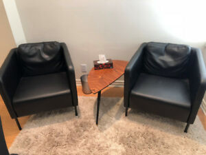 Full Set of Modern Den or Family Room Chairs and Furniture