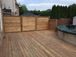 Decks and Fences, big and small we build them all!!!