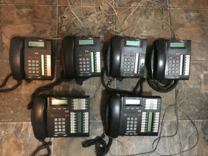 Nortel T7316E and T7208 multi-line telephones