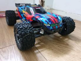 Traxxas Rustler 4x4 VXL  Warranty  Upgraded  Spares  Rc Car