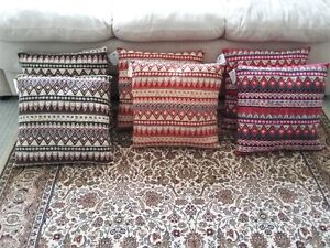 MULTICOLOR CUSHIONS PILLOWS (SET OF 6) - $75 FIRM London Ontario image 1