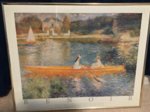 Framed Renoir print $25 game of thrones Ruth orkin