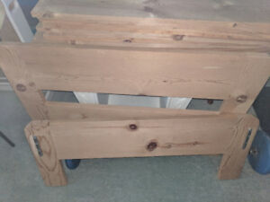 Solid Pinewood  Single Bed Frames with Mattresses: Matching 3