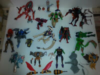 beast wars incomplete figures and parts