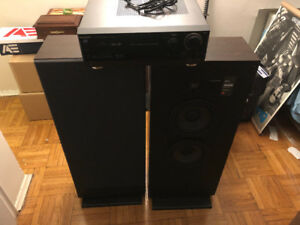 JBL Speakers + Panasonic receiver