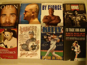 Sport book lot of 8 (Jose Canseco, Kelly grueber, Bo Jackson etc