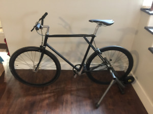 Nashbar Road LP 58cm Vintage Single Speed bike with Trainer!!!