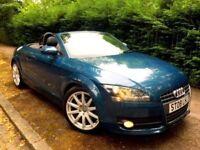 **IMMACULATE** 2008 AUDI TT 2.0 TFSI PETROL 200 BHP MANUAL CONVERTIBLE BLUE
