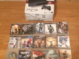 160 Gb PS3 with 15 games