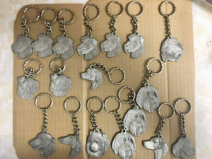 $5 each Pewter dog key fobs RAWCLIFFE BRAND