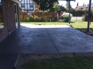 concrete finishing Campbell River Comox Valley Area image 1