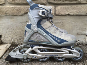 Like NEW Rollerblade Inline Skates 80mm/82A Women's Size 6