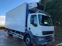 2008 58 DAF LF 55.180 21ft gray adams fridge box carrier supra 750 freezer unit