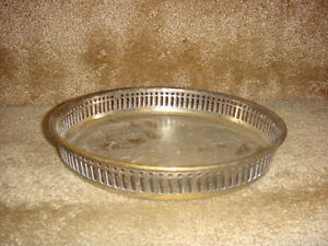 Vintage Silver Plated Gallery Tray