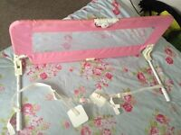Pink toddler bed guard
