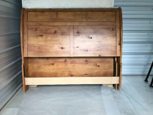 Queen sleigh bed for sale!