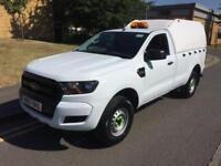 2017 Ford Ranger XL 4X4 TDCI Singlecab Truckman Top Manual Pickup