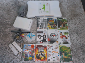 Nintendo Wii with 11 games + Wii Fit and balance board