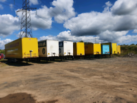 Box trailers for storage