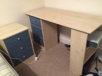 Free desk and side cabinet