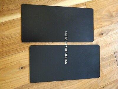5.5x12 Black Color Bumper Car Magnet Sign 30 Mil 2 Sheet.