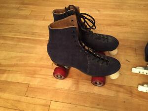 Velvet roller skates +Velvet ice skates