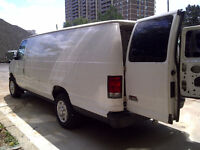 RENT A CARGO VAN WITH A DRIVER, $35/hour. Pick-up and Delivery