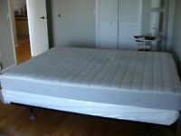 Queen Mattress and Boxspring with Frame