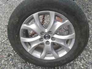 Mags 18'' Mazda CX9 2015- pneus Été 245 60R18 bridgestone