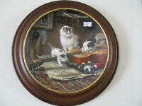Wood Framed Cat Plate at KeepSakes Antiques